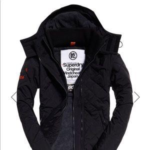Quilted Superdry Jacket black/darkgrey marl Medium